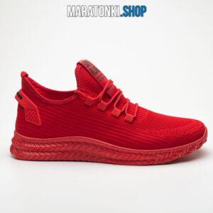 Червени текстилни маратонки